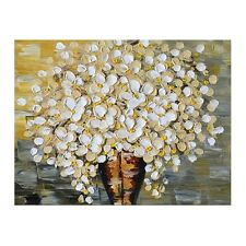 Handmade Abstract Oil Painting on Canvas Flowers Artwork Modern Wall Art Framed