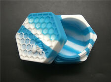 Honeybee hexagon Silicone Container Jars Container For Oil Crumble Honey Wax