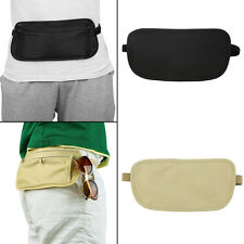 Travel Pouch Hidden Zippered Waist Compact Security Money Waist Belt Bag FJ