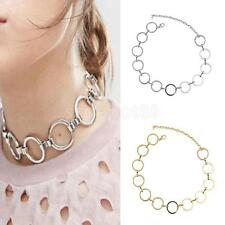 Fashion Euramerican Alloy O Shaped Linked Collar Necklace Women Girl Jewelry