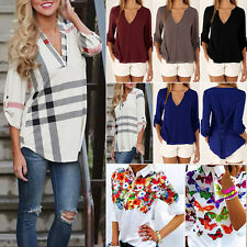 Womens Long Sleeve Tee Shirt Ladies Casual Soft Blouse Loose Top Tshirt New Gift