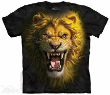 Asian Lion Kids T-Shirt by The Mountain. Wild Big Cats Zoo Animals Youth NEW