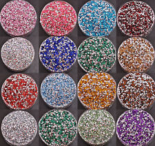1000Pcs Acrylic Flatback Rhinestone Faceted Gems Pointed Back 2MM 2.5MM 3MM 4MM