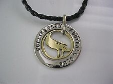 COLLINGWOOD FOOTBALL CLUB MAGPIE PENDANT / NECKLACE. ARL, SILVER / GOLD.
