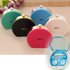 Easy Carry Retro Perfume Bottle Shaped Contact Lens Case Box Container Holder