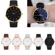 The Fifth Band Watch Analog Quartz Casual Men Women Leather Gold Wrist Watches