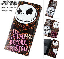 The Nightmare Before Christmas Jack long section Purse Wallet Handbag Clutch Bag