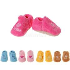 Toddler Baby Boys Girls Thermal Shoes Coral Fleece Slippers Trainers Prewalker
