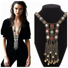 Fashion Women Lady's Golden/Silver Plated  Multi-Layer Long Pendant Necklace