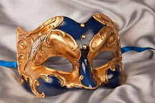 Half Face Joker Masquerade Masks with Musical Notes and Gold Leaf - Joker Gold