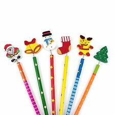 Christmas Pencils Party Bag Fillers Teacher Xmas Stationery Gift Stocking Filler