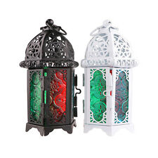 Black/White Retro Metal Candle Holder Candle Lamp Light Box Hanging Home Decor