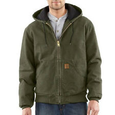 Carhartt Sandstone Duck Active Jacket - Quilted Flannel Lined - MOSS GREEN