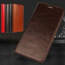 Luxury Phone Case Wallet Stand Flip Genuine Real Leather Cover For Smart Phone