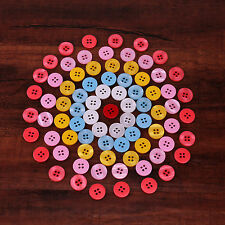50PCS 15MM High Quality Resin Buttons 4 holes for shirt or DIY Sewing Craft