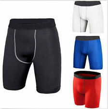 Sports Athletic Tights Compression Wear Under Base Layer Shorts Men's Pants #J51