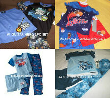 * NWT NEW BOYS 3PC SHARK GUITAR HERO SPORTS RACE CAR ALL YEAR PAJAMAS SET  4 6
