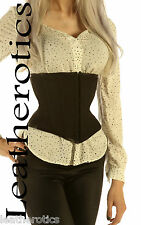 COTTON corset waist belt hot gift present idea FULL STEEL BONED FOR TIGHT LACING