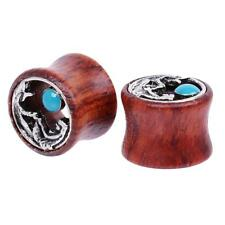 Hot Wooden Alloy Mermaid Flared Ear Plug Tunnel Expanders Stretcher