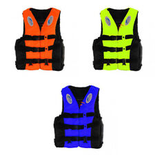 Kids Adult Life Jacket Vest w/ Whistle for Swimming Kayak Canoe Boating Fishing