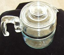 Vintage Pyrex 6 Cup Flameware Perculator & Lid, Parts Only