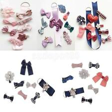 Cute Toddle Girls Hair Clips Set with Ribbon Holder Wedding Birthday Xmas Gift