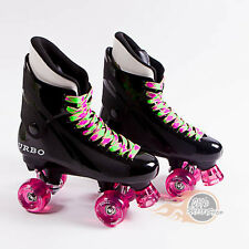 Ventro Pro Turbo Quad Roller Skates, Bauer Style - Pink/Green