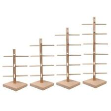 Wood Display Rack Stand Organizer for Glass Sunglass Eyeglass 3/4/5/6 Layers