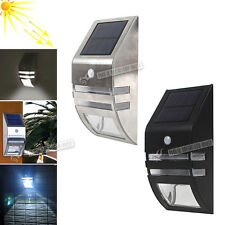 LED Solar Powered PIR Motion Sensor Security Light Garden Garages Outdoor Lamp