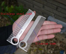 EDC Gear Ti Titanium Tactical Comb Pocket EDC Tool Matte Christmas Gifts SZ-T