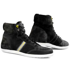Rev'it Stelvio Perforated Waxed Suede Casual Urban Motorcycle Boots - Off Black