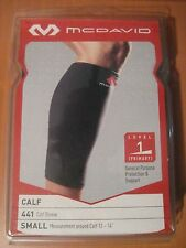 "New McDavid 441 Calf Sleeve S 12-14"" Black Compression Protection Support xmas"