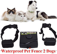 2 dog Underground Waterproof Shock Collar Electric Pet Fence Fencing System W227