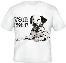 Dalmation Dog  GIRL TOP Kids Child's Personalised T Shirt Great  GIFT Idea!