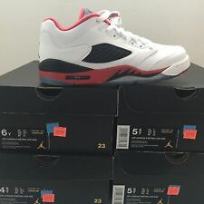 DS Nike Air Jordan 5 V Retro Low GS Fire Red Size 4/Size 5/Size 6