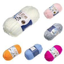 6 colors Soft Bamboo Crochet Milk Cotton 50g Baby Kids Knitting Wool Thick Yarn