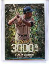2016 Topps Update Chrome - HANK AARON, 3,000 Hits Club REFRACTOR #3000C-3 Braves