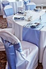 "COMBO SET 6""x108"" Satin Chair Sashes & 12""x108"" Table Runner Wedding Party Decor"