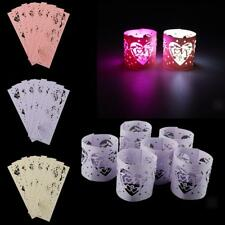 6pcs LOVE Heart LED Tea Light Candle Holders Wedding Christmas Decoration