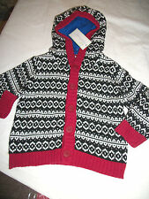 * NWT NEW BOYS First Impressions Knit Thick Hoodie SWEATER 12M 18M 24M