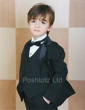 Boys Suits 5 Piece Classic Tuxedo Wedding Pageboy Party Prom (6mths-16yrs)