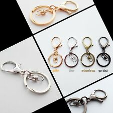1-10X Keychain Car Key ring Lobster Clasp Clip Bag Pendant Findings Trigger Hook