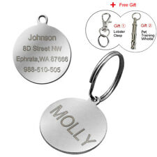 Round Shape Personalized Dog Tags Engraved Cat Dog Collar Tags Free Engraving