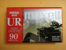 Lot of 16 Sealed Maxell UR 90 Minute Audio Cassette Tape Normal Bias IEC Type 1
