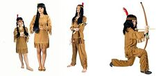 Indian Squaw Red indian woman suede look Unisex Girls Boys Costume NEW