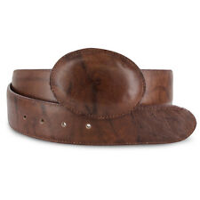 Mens Brown Mocha Cowboy Western Exotic Genuine Cowhide Leather Belts Size 32-48