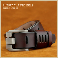 Fashion Men's Casual Genuine Leather Waistband Buckle Belt Waist Strap Belts