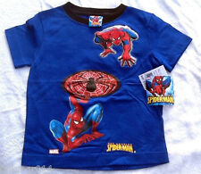 NWT Youth Marvel Spiderman Blue T Shirt w/ Beaded Black Spider Size 5/6 and 7