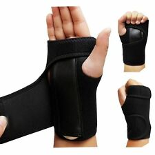 Black Carpal Tunnel Hand Wrist Support Brace Splint Sprains Arthritis Band Belt