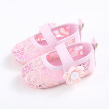 Lace Baby Girl Shoes Princess Infant Christmas Flower Hasp Hollow Soft Sole Crib